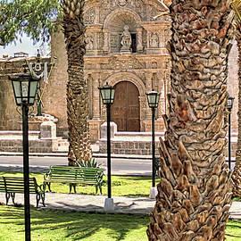 Arequipa Church Facade by Nigel Fletcher-Jones
