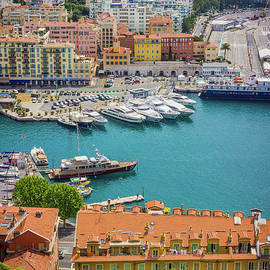 Arial View of Harbor in Nice, France by Liesl Walsh