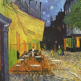 Arles Cafe Terrace At Night by Vincent van Gogh