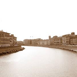 Arno River In Pisa by Laurel Best