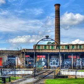 Reid Callaway - Around The House Turntable Central Of Georgia Railroad Art