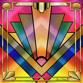 Art Deco Chevron 6 by Chuck Staley