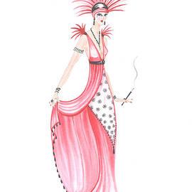 Art Deco Lady - Adele by Di Kaye