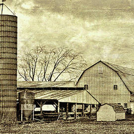 William Sturgell - Artistic Old Farm with two Silos