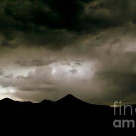 Texas Mountains Silhouette And The Ascension Of The Dusking Sky by Michael Hoard