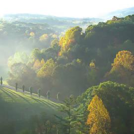 Asheville Autumn Mountain Sunrise by Norma Brandsberg