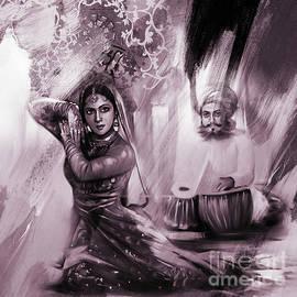 Asian Kathak Dancer  by Gull G