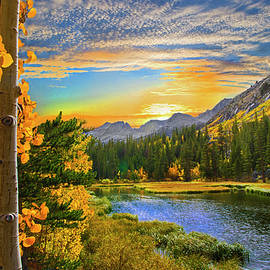 Lynn Bauer - Aspen Sunset at Twin Lakes