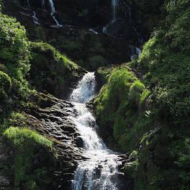 Assarancagh Waterfall Donegal Ireland by Eddie Barron