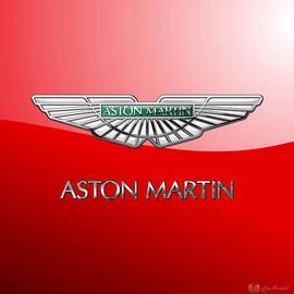 Aston Martin - 3 D Badge on Red
