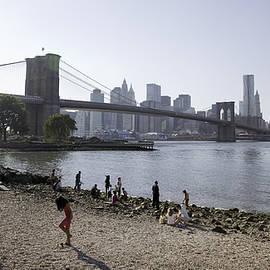 At the Brooklyn Bridge by Madeline Ellis