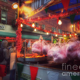 At the Feast of San Gennaro - Cotton Candy by Miriam Danar