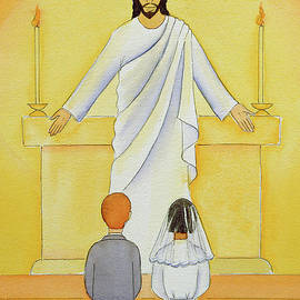 At their First Holy Communion children meet Jesus in the Holy Eucharist - Elizabeth Wang