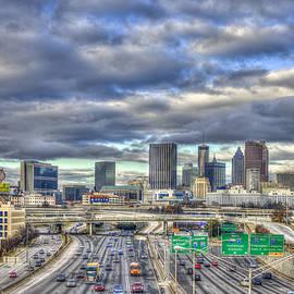 Atlanta The Beautiful Cityscape South Looking North Atlanta Skyline Art by Reid Callaway