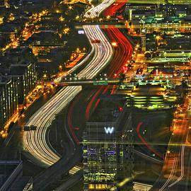 Atlanta, Georgia -  Freeway Light Trails by Richard Krebs