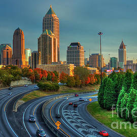 Reid Callaway - Atlanta Glow Sunset Skyline Art