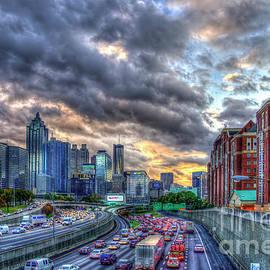 Reid Callaway - The Rush Is On Atlanta Downtown Atlanta Sunset Art