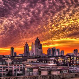 Atlanta Midtown Atlantic Station Sunrise by Reid Callaway