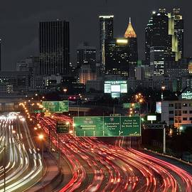 Atlanta Nightscape by Frozen in Time Fine Art Photography