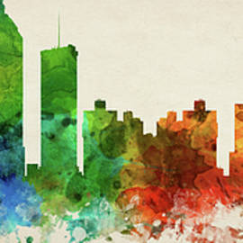 Atlanta Skyline Panorama USGAAT-PA03 - Aged Pixel