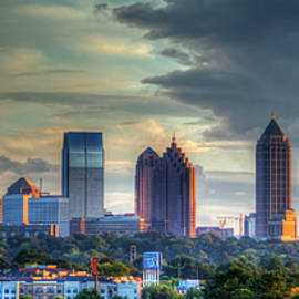 Atlanta Sunset Panorama Cityscape Art by Reid Callaway
