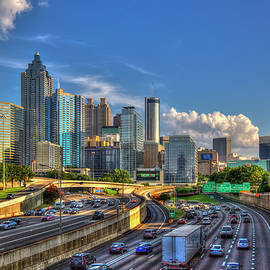 Reid Callaway - Atlanta The Capital Of The South Cityscapes Sunset Reflections Art