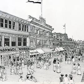 Ira Shander - Atlantic City Boardwalk 1900