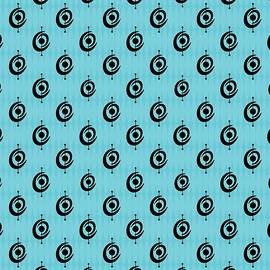 Atomic Shape 2 In Turquoise by Donna Mibus