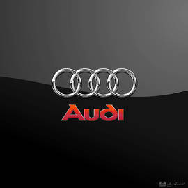 Audi 3 D Badge on Black