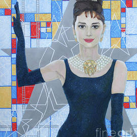 Julia Khoroshikh - Audrey Hepburn, classical Hollywood, celebrity portrait