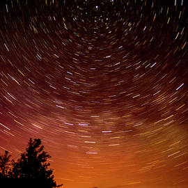Aurora And Star Trails by Albert Seger