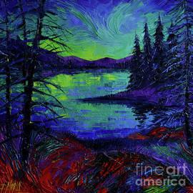 Mona Edulesco - Aurora Borealis Dreamscape modern impressionist palette knife oil painting