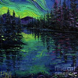 Mona Edulesco - Aurora Borealis Mirage Textural impressionist impasto landscape palette knife oil painting