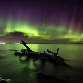 Aurora over Thunder Bay from Chippewa  by Jakub Sisak