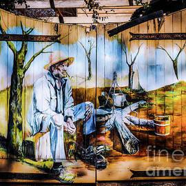 Lexa Harpell - Aussie Mural on Gate