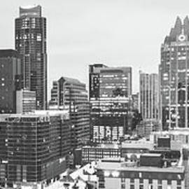 Paul Velgos - Austin Skyline Black and White Panorama
