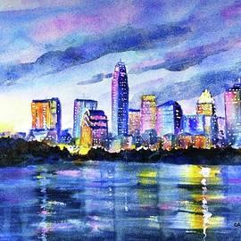 Carlin Blahnik - Austin Texas Colorful Skyline Sunset