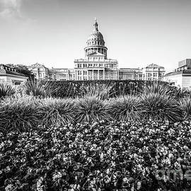 Paul Velgos - Austin Texas State Capitol Building Black and White Photo