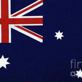 Australian Flag Textured by Kaye Menner
