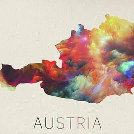 Design Turnpike - Austria Watercolor Map