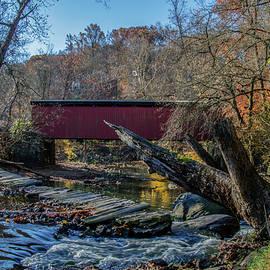 Bill Cannon - Autumn Along the Wissaickon Creek at Thomas Covered Bridge