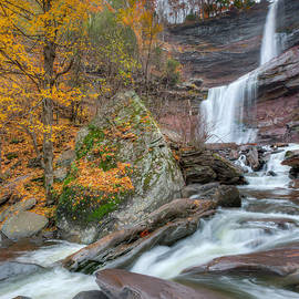 Autumn at Kaaterskill Falls Square by Bill Wakeley