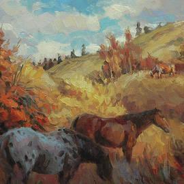 Autumn Browsing by Steve Henderson