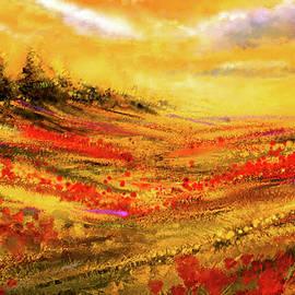 Autumn Burst - Autumn Foliage Colorful Art by Lourry Legarde