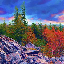 Dan Carmichael - Autumn Fall Colors - Stormy Sunrise at Bear Rocks AP