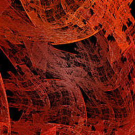 Autumn In Space Abstract Pano 2 by Andee Design