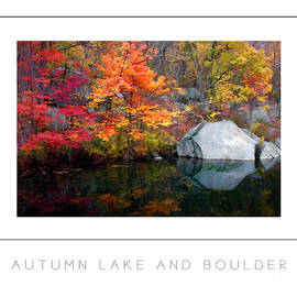 Mike Nellums - Autumn Lake and Boulder poster