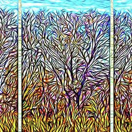 Joel Bruce Wallach - Autumn Light Windows - Triptych