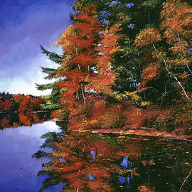 David Lloyd Glover - AUTUMN MIRROR LAKE