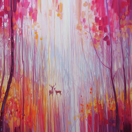 Gill Bustamante - Autumn Monarchs - deer in an autumn wood